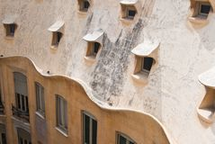 Detail of the house of Casa Mila. Barcelona Stock Images