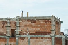 House in construction. Detail of house in construction Royalty Free Stock Photography