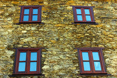 Detail of an house at a portuguese schist village Stock Photos
