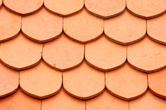 Detail of a house red roof tiles Royalty Free Stock Images