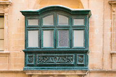 Detail of house in the town Xewkia. On the Maltese island Gozzo Royalty Free Stock Images