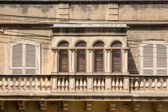 Detail of house in the town Xewkia. On the Maltese island Gozzo Royalty Free Stock Photography
