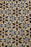 Detail of  a huge decorated with traditional Arab Islamic orname Royalty Free Stock Photos