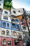 Detail from Hundertwasser House in Vienna Royalty Free Stock Images