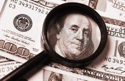 Detail of hundred dollar Stock Photos