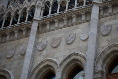 Detail of the Hungarian Parliament Building Royalty Free Stock Image