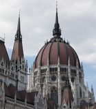 Detail of the Hungarian Parliament Building Royalty Free Stock Photography