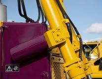 Detail of hydraulic bulldozer piston Royalty Free Stock Photography