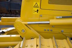 Detail of hydraulic bulldozer piston Stock Photo