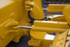 Detail of hydraulic bulldozer piston Stock Images