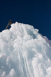 Detail of an ice block in the cold winter day Royalty Free Stock Image