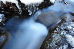 Detail of icy stream Royalty Free Stock Images