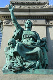 Detail Ignace Bourget statue Stock Photography