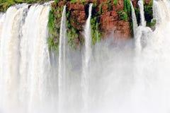 Detail Iguazu Falls, Overview Iguazu Waterfalls and Rainforest royalty free stock images