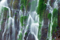 Detail of the Iguazu waterfall. With blurred motion Stock Photos