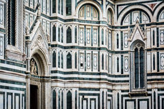Detail of Il Duomo, Florence - the marble facade royalty free stock photos