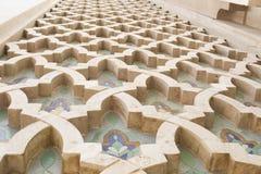 Detail im Freien, Moschee König-Hassan II, Casablanca, Marokko, Nord-Afrika, Afrika lizenzfreie stockfotos
