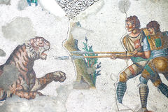 Detail im Mosaikmuseum lizenzfreie stockbilder