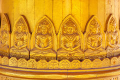 Detail of Image Buddha Low Relief at Pavilion of the Enlightened in Thailand Royalty Free Stock Photo