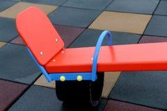 Detail image of an element of children playground in kindergarten stock image