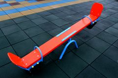 Detail image of an element of children playground in kindergarten royalty free stock image
