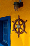 Detail image from a fishing village in Greece Stock Images