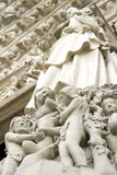 Nôtre Dame sculptures Stock Photography