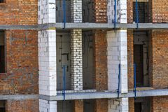 Detail image of new apartement building under construction.  Stock Image