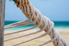 Detail image of a twisted hammock rope Royalty Free Stock Photos