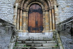 Detail of imposing front entrance,St.Mary's Cathedral,Limerick,Ireland,2014 Stock Images