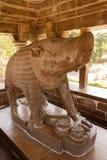 Detail, incarnatie van Vishnu als beer, Varaha Stock Foto
