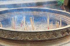Detail of incense holder in Chinese temple Royalty Free Stock Photo