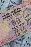 Detail of Indian Rupee money Royalty Free Stock Image