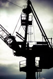 Detail of industrial crane in Gdansk shipyards. Detail of industrial view massive crane in the Shipyards in Gdansk, Poland Royalty Free Stock Photos