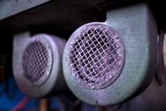 Detail of industrial machines Royalty Free Stock Images