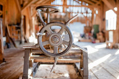 Detail of industrial wood factory Stock Image