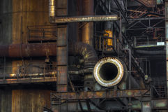 Detail of Industry for manufacturing  pig-iron Royalty Free Stock Image