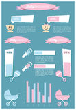 Detail info graphic with baby symbols Stock Photography