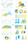 Detail info-graphic illustration Royalty Free Stock Photos