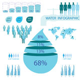 Detail info graphic vector illustration Royalty Free Stock Image