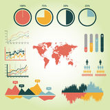 Detail infographic  illustration. World Map and Information Graphics Royalty Free Stock Photography