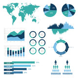 Detail infographic vector illustration. World Map and Information Graphics Royalty Free Stock Photography