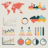 Detail infographic vector illustration. World Map and Information Graphics Stock Photography
