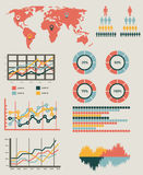 Detail infographic vector illustration. World Map and Information Graphics Stock Photos
