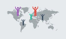 Detail infographic World Map and Information Royalty Free Stock Images