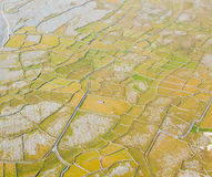 Detail of Inisheer island. Aerial landscape of Inisheer Island, part of Aran Islands, Ireland Royalty Free Stock Photo