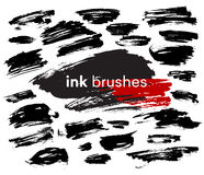 Detail ink brush paint stroke. Vector illustration Royalty Free Stock Images