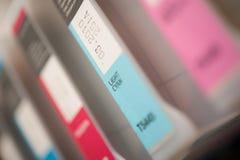 Detail of Inkjet Printer Cartridges Royalty Free Stock Photos