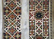 Detail of inlaid marble Islamic patterns royalty free stock image