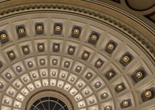 Milwaukee Public Library dome ceiling Stock Images